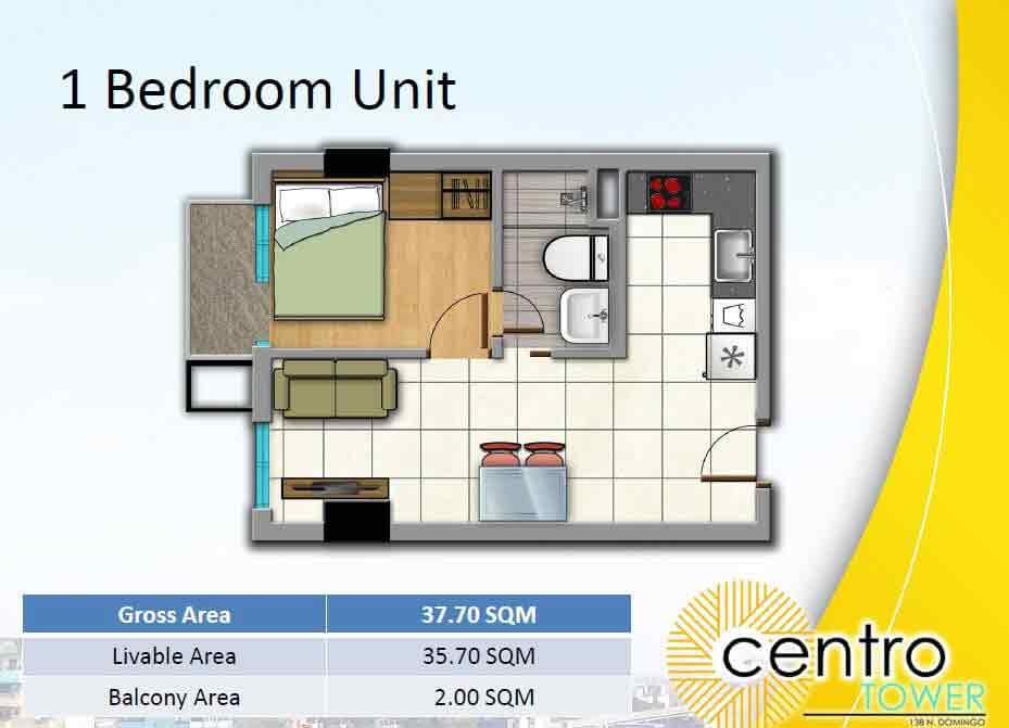 Arezzo Place - 1 Bedroom Unit