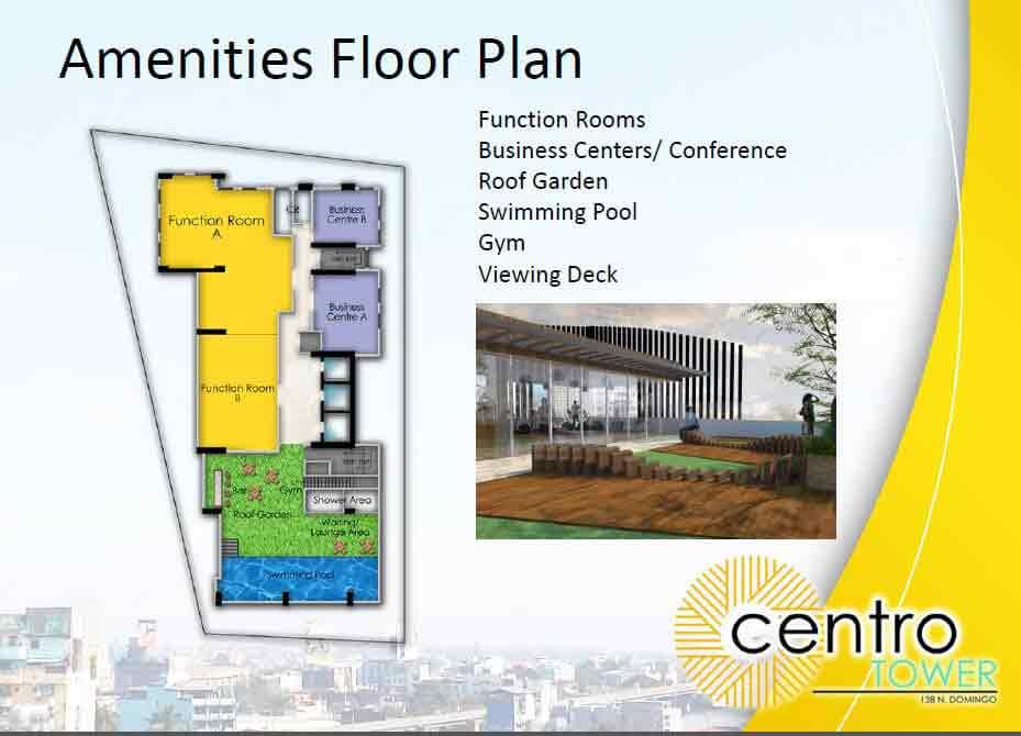 Arezzo Place - Amenities Floor Plan