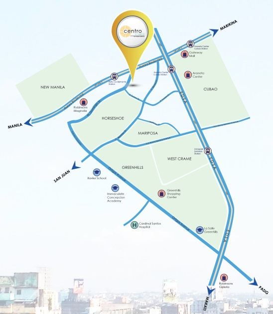 Arezzo Place - Location Map