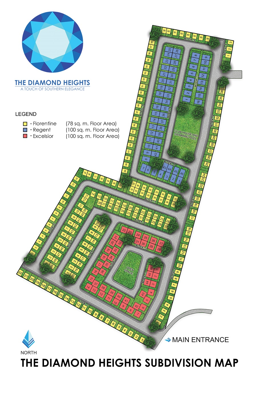 Diamond Heights - Subdivision Map