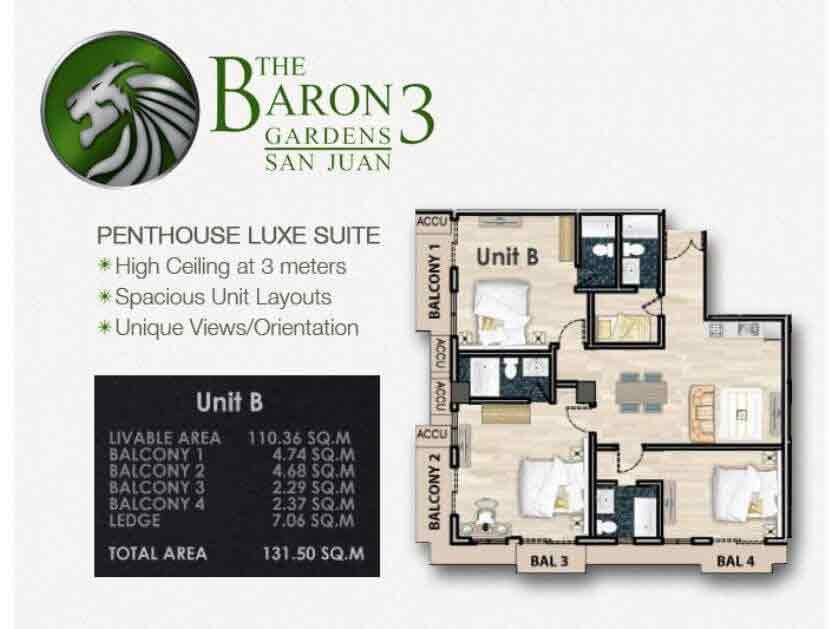 Baron 3 Gardens - Penthouse Luxe Suite
