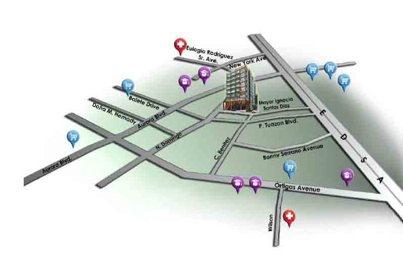 Centro Residences - Location Map