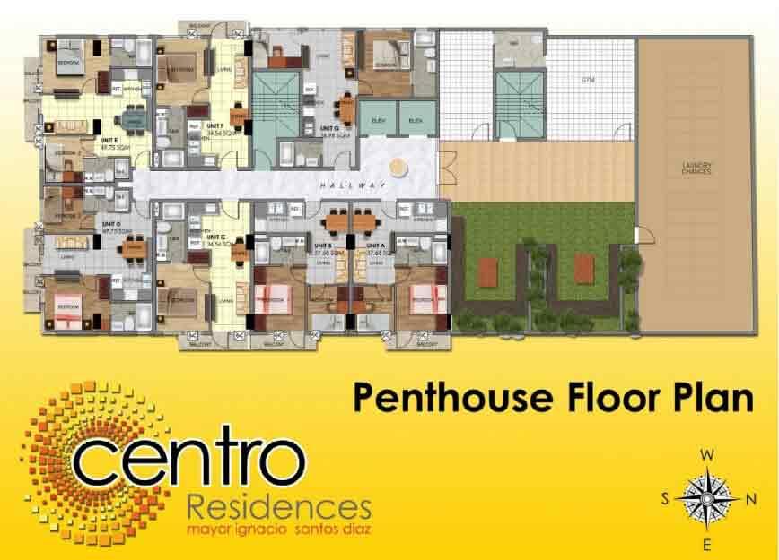 Centro residences condominium for sale in quezon city for Real estate floor plan pricing