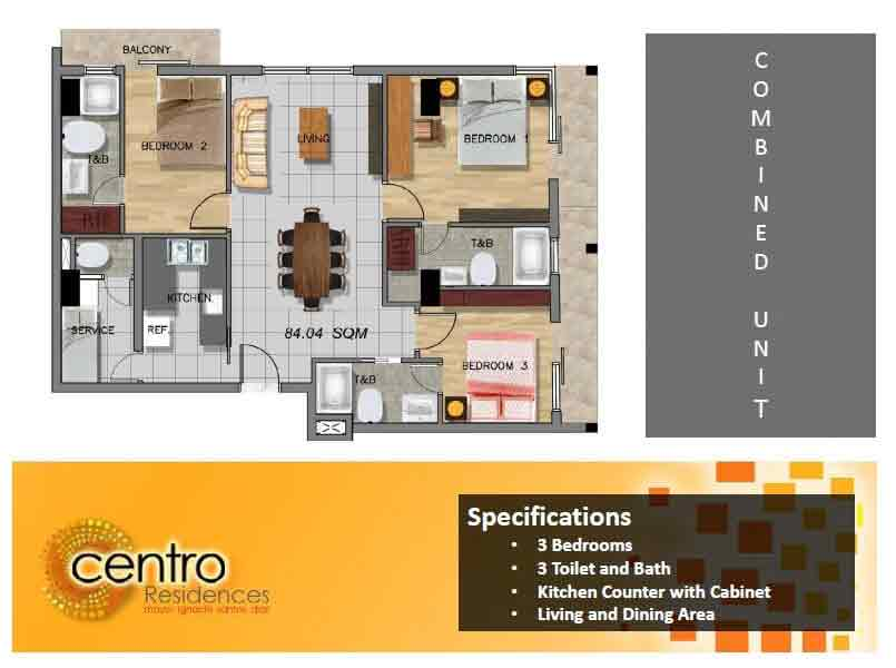 Centro Residences - Combined Unit