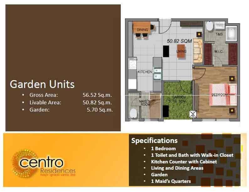 Centro Residences - Garden Units