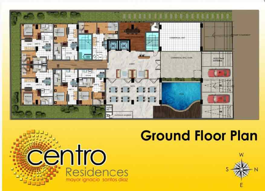 Centro Residences - Ground Floor Plan