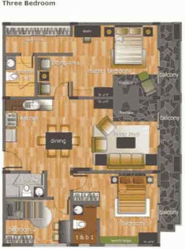 Woodhills Residences - 3-Bedroom Floor Plan