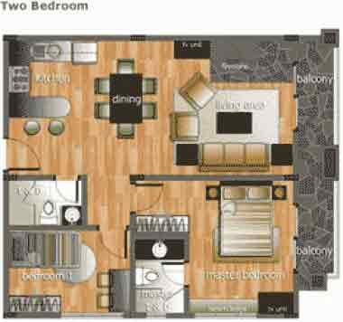 Woodhills Residences - 2 Bedroom