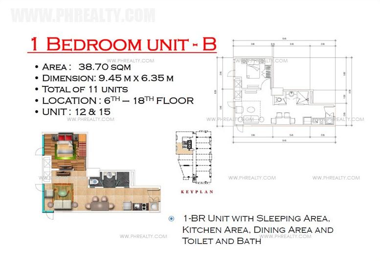 West Avenue Residences - 1 Bedroom Unit B
