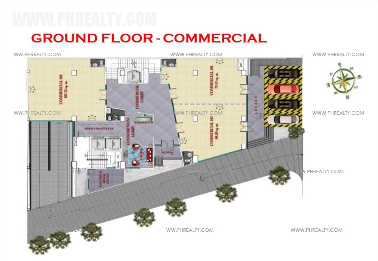 West Avenue Residences - Ground Floor Plan Commercial