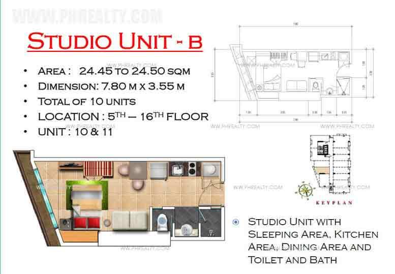 West Avenue Residences - Studio Unit B
