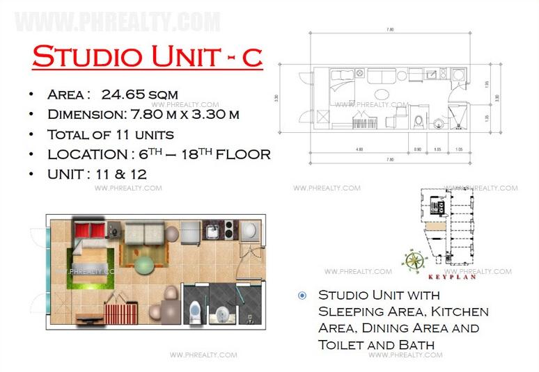 West Avenue Residences - Studio Unit C