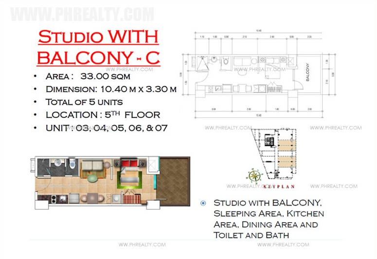 West Avenue Residences - Studio with Balcony B