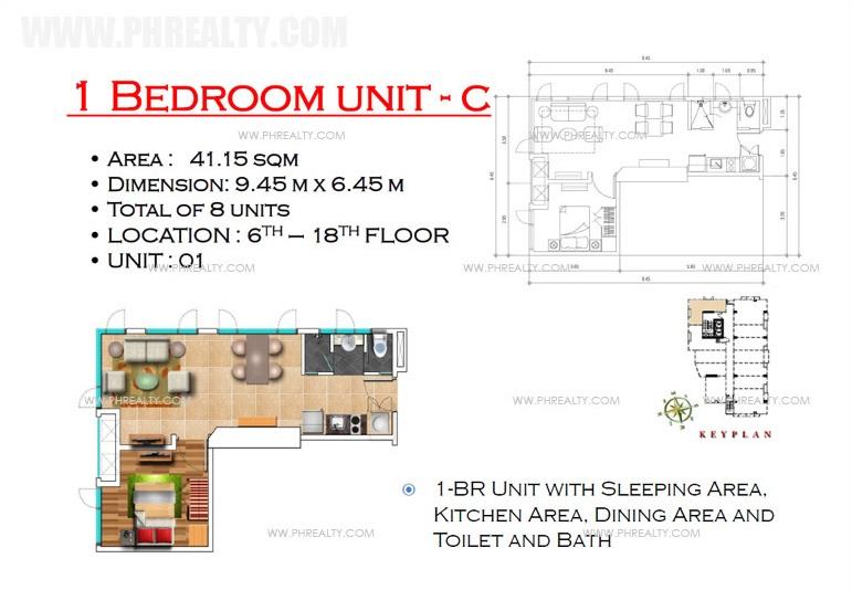 West Avenue Residences - 1 Bedroom Unit C