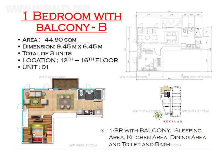 West Avenue Residences - 1 Bedroom with Balcony B