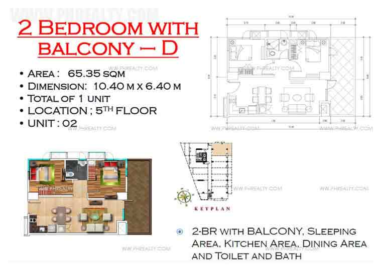West Avenue Residences - 2 Bedroom with Balcony D