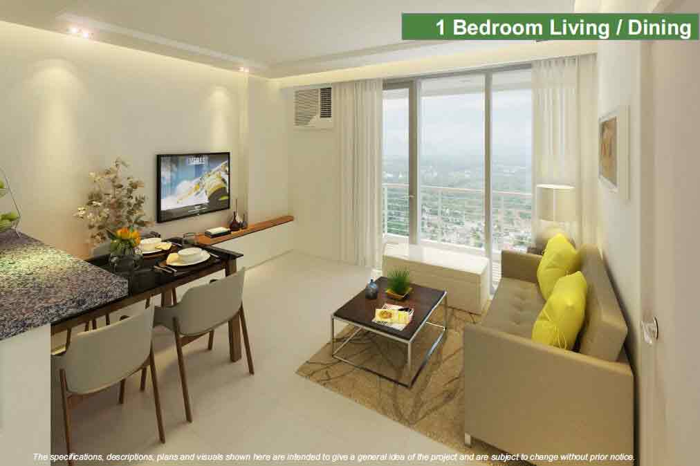 One Lakeshore Drive - 1 BR - Living and Dining Area