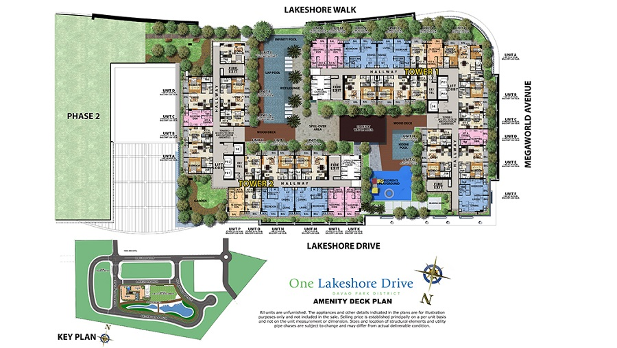 One Lakeshore Drive - Amenity Deck Plan