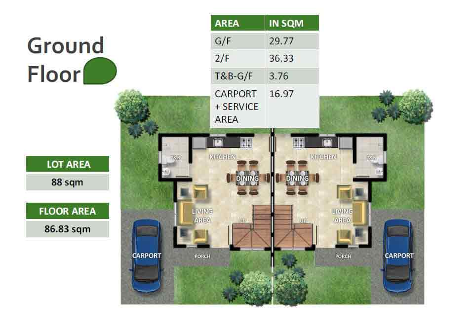 Suntrust Palm City - Abigail Ground Floor Plan