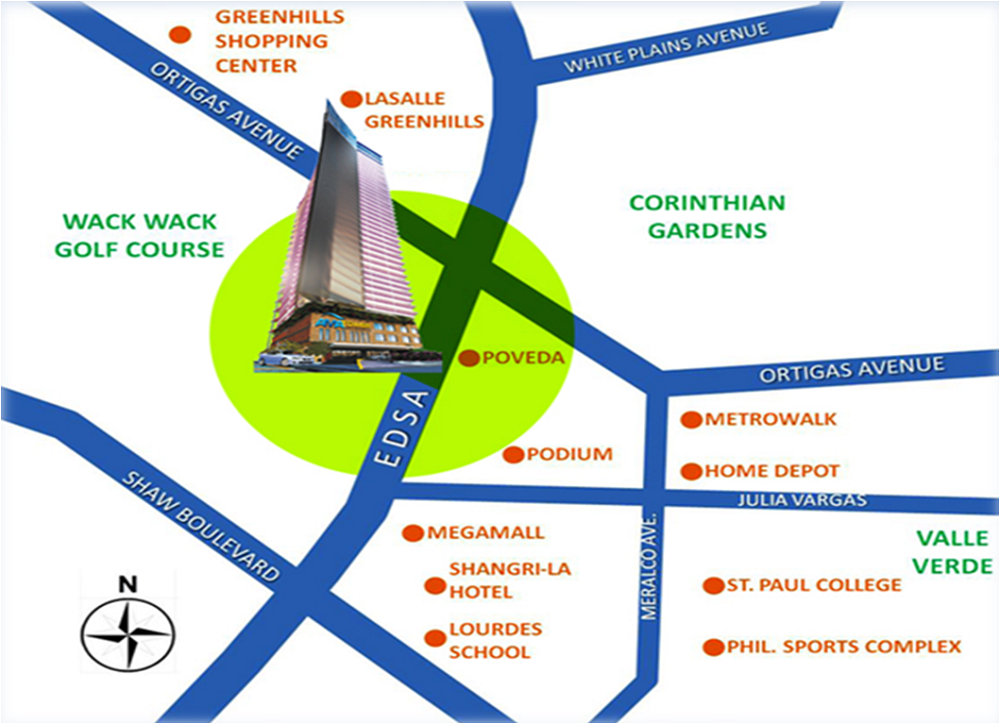 AMA Tower Residences - Location & Vicinity
