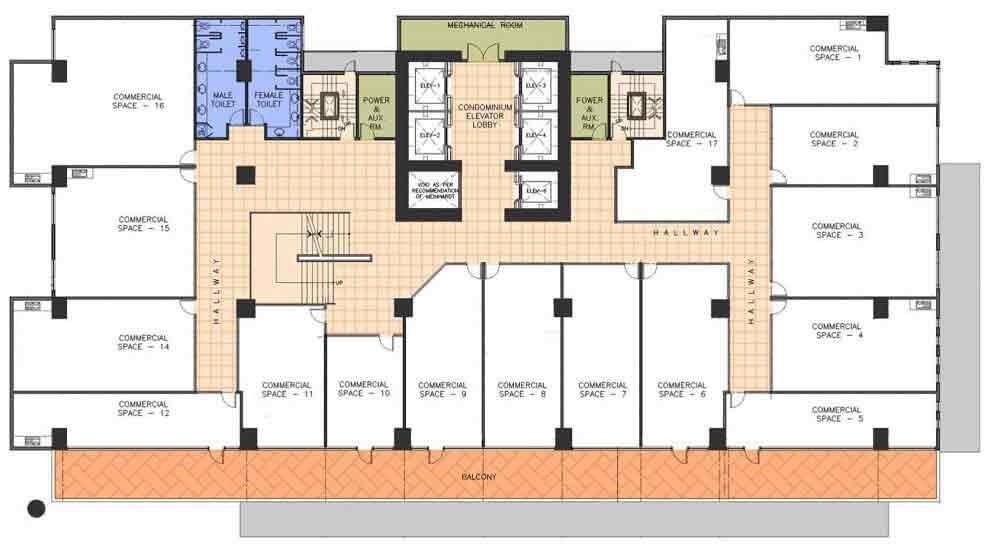AMA Tower Residences - 2nd Floor