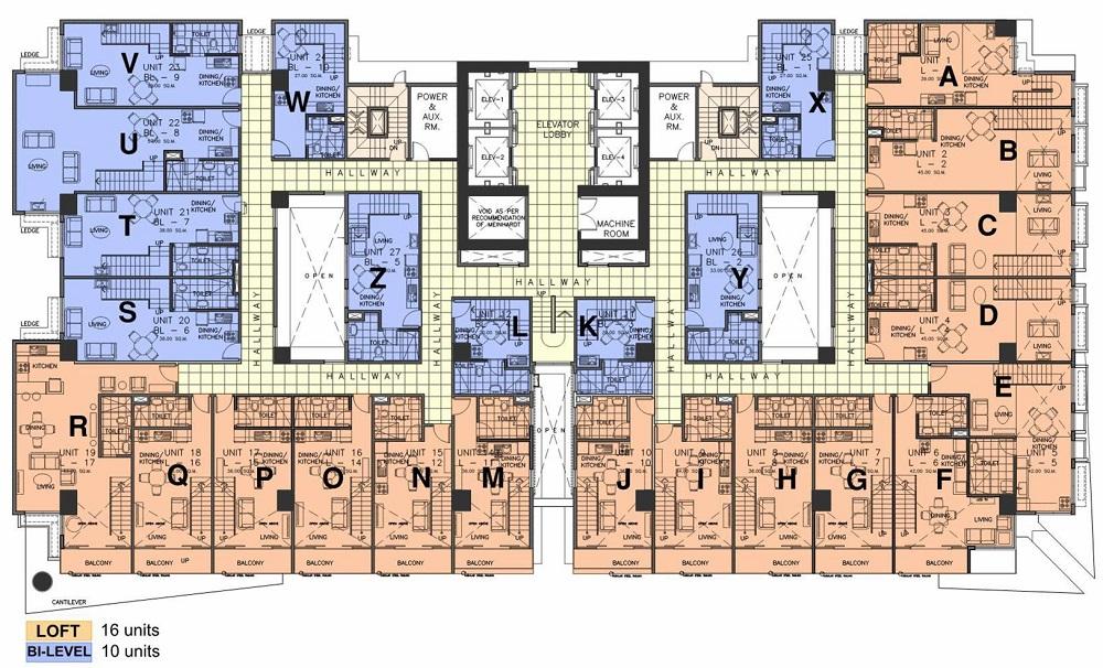 AMA Tower Residences - 32nd - 34th Floor Lower Loft