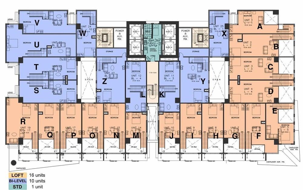 AMA Tower Residences - 32nd - 34th Floor Upper Loft