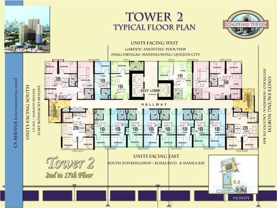 Ridgewood Towers - Typical Floor Plan