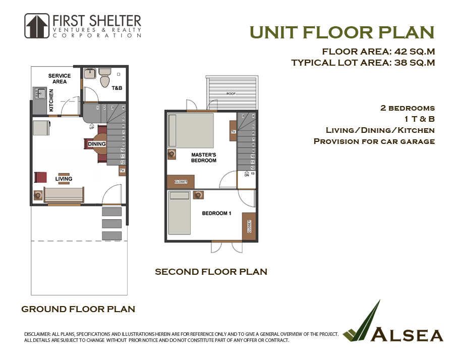 Alsea Townhouse - Unit Floor Plan