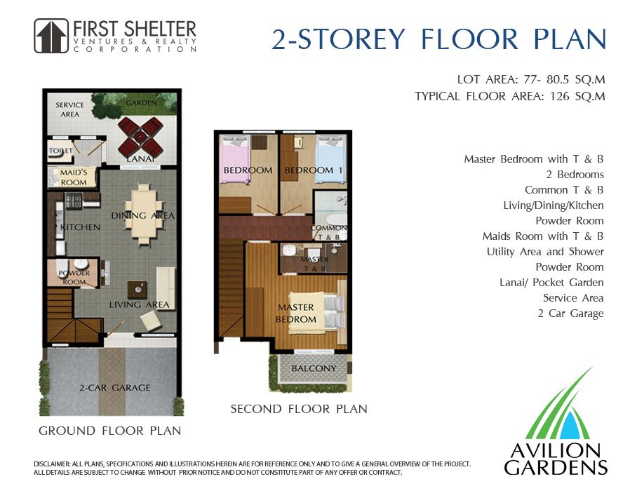 Avillon Garden - 2 Storey Floor Plan