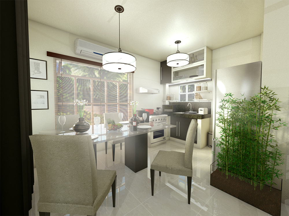 Dream Crest Homes - Kitchen with Dinning Area