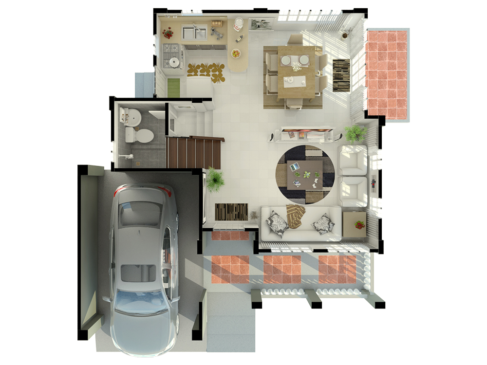 Casa Buena De Pulilan - Ground Floor Plan