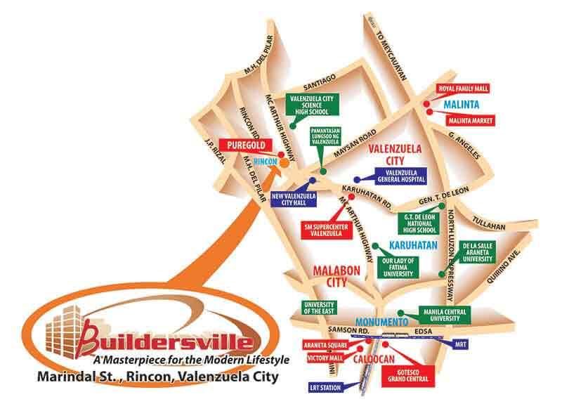Buildersville - Location