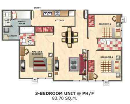 Centropolis Communities - 3 Bedroom Unit