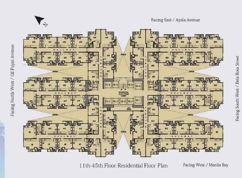 Victoria De Makati - Residential Floor Plan