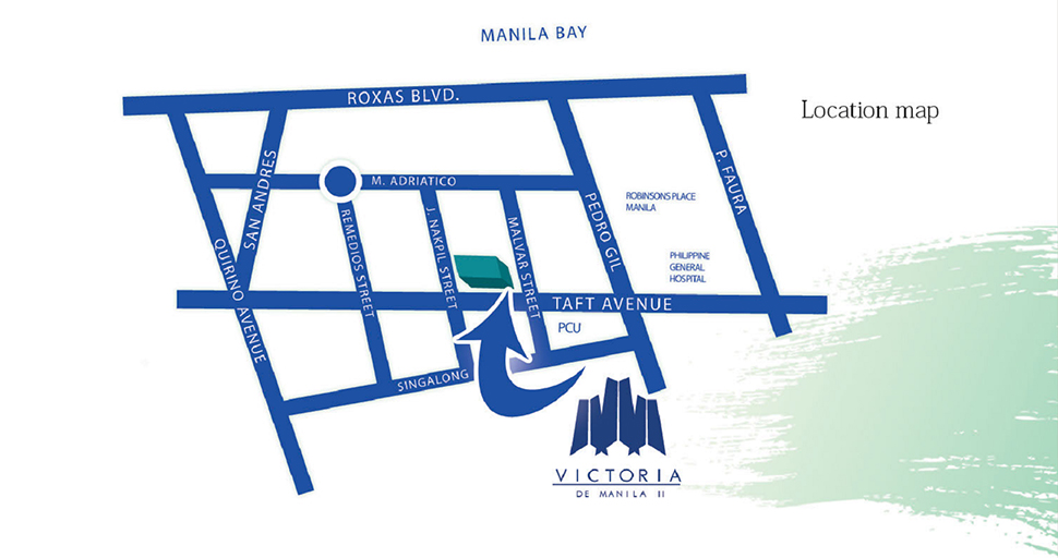 Victoria De Manila - Location