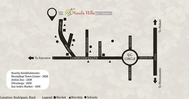 Metro Manila Hills: Theresa Heights - Location & Vicinity
