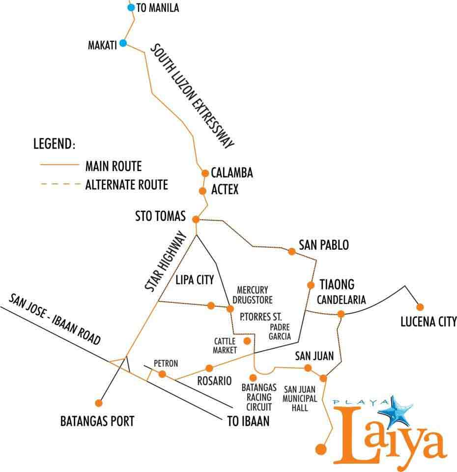 Playa Laiya - Location & Vicinity