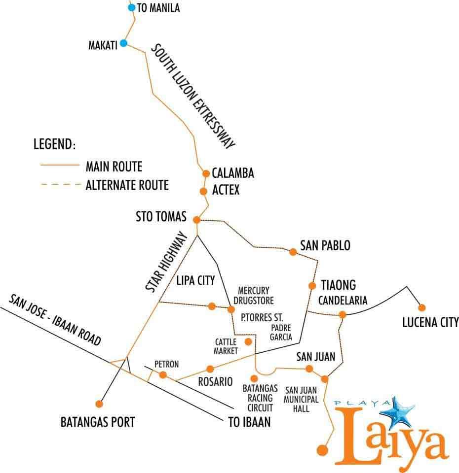 Playa Laiya - Location & Vicinity