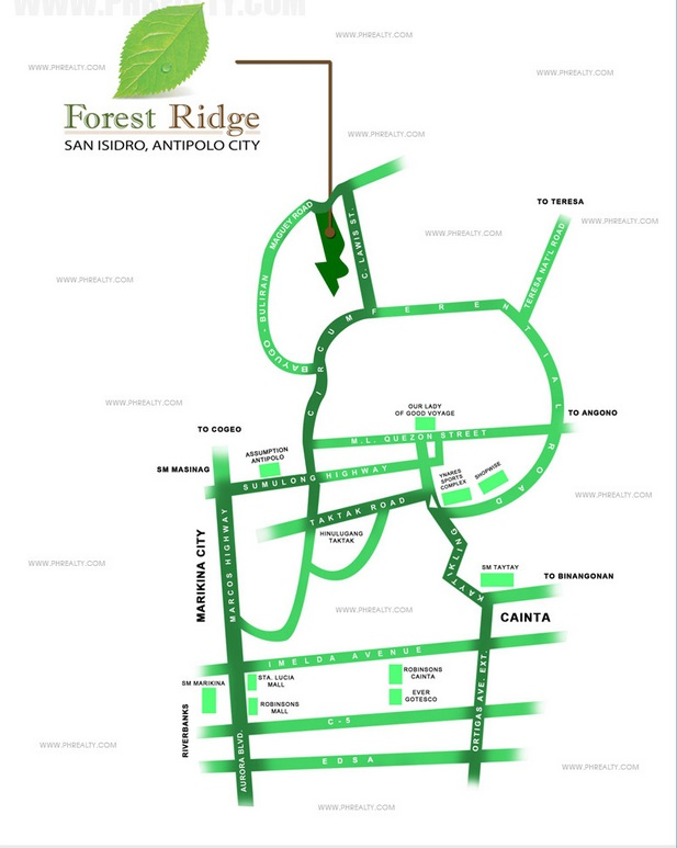Forest Ridge - Location & Vicinity