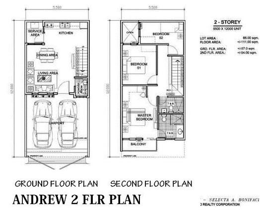 Arezzo Place - Andrew Floor Plan