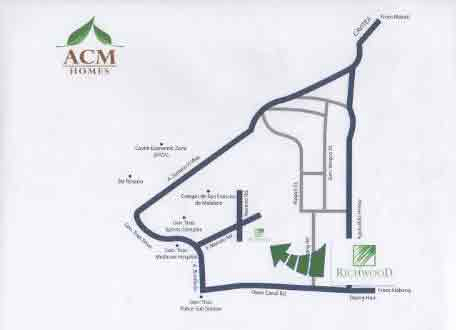 Richwood Townhomes - Location and Vicinity Map