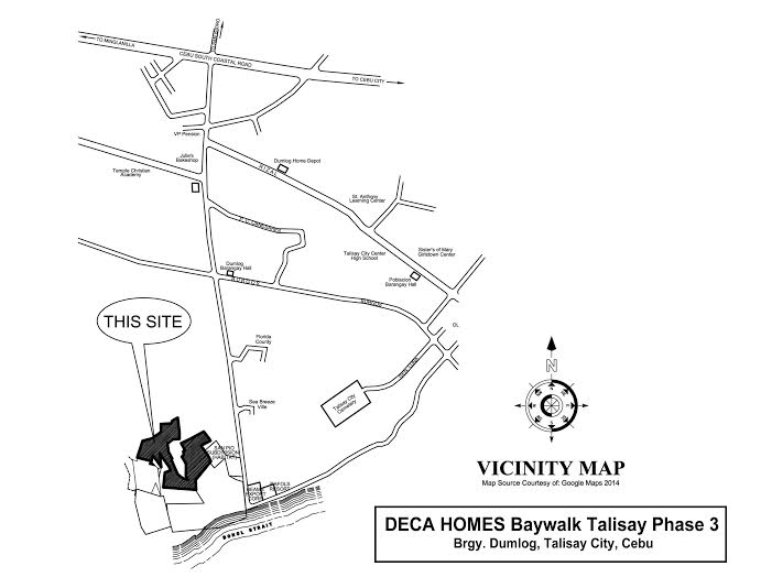 Baywalk Talisay Phase 3 - Location & Vicinity