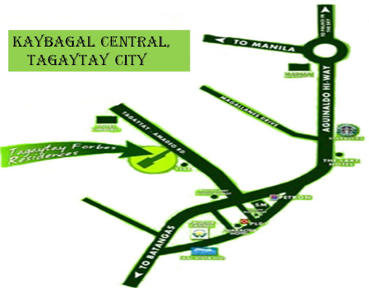 Tagaytay Forbes Residences - Location & Vicinity