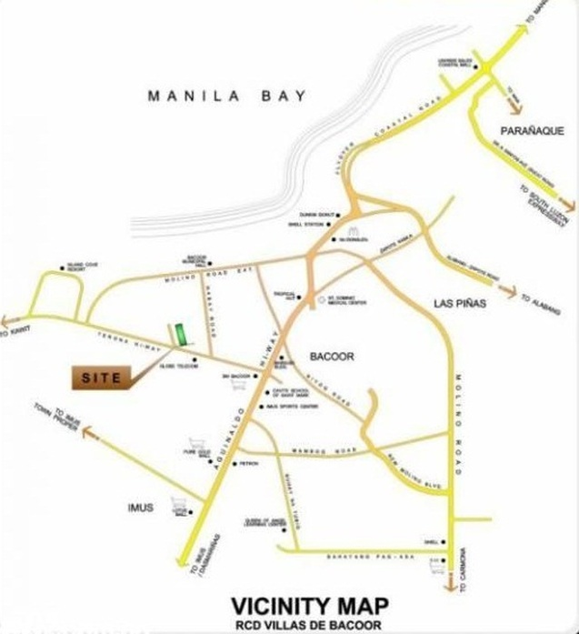 Villas De Bacoor - Location Map