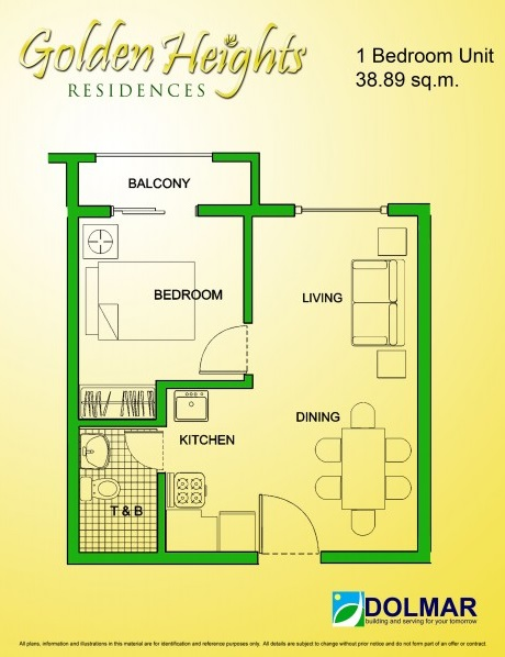 Golden Heights - 1 Bedroom Unit
