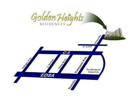 Golden Heights - Location Map