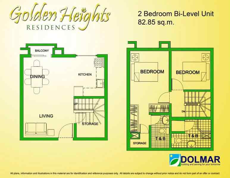 Golden Heights - 2 Bedroom Unit