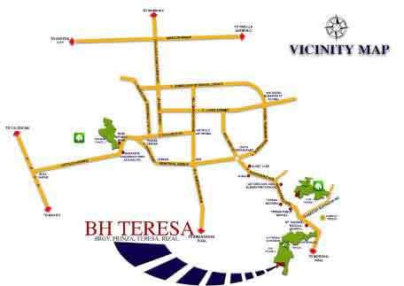 Bria Homes Teresa - Location Map