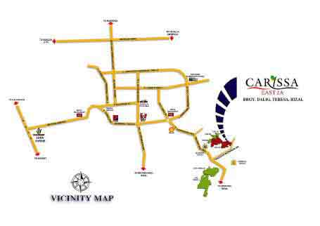 Carissa Homes East 2A - Location Map